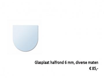 glasplaat kachel halfrond