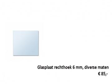 glasplaat kachel rechthoek