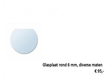 glasplaat kachel rond