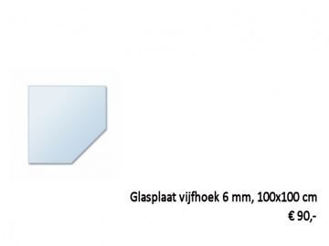 glasplaat vijfhoek kachel